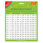 Magnetic Multiplication Tables - Pack 2 Times Tables