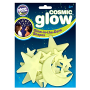 Cosmic Glow UV Moon & Stars - Plastic Sticky Child Sensory Toy