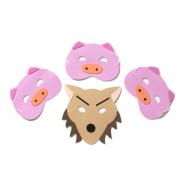 Three Little Pigs Mask Set