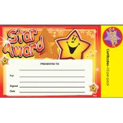 A5 Certificate Star Award