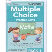Multiple Choice Practice Tests in Maths Pack 1