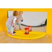 Plain Semi Circle Mat with Rectangular Mirror Set*