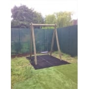 Langley Single Swing Frame with Heavy Duty Rubber Adult Swing Seat*