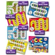 6 CVC Spelling Board Games