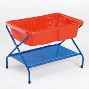 Rockface Sand and Water Tray Table Red* - Sensory outdoor/indoor play