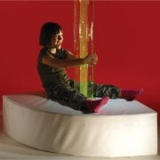 Small Corner Bubble Tube Plinth**