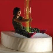 Large Corner Bubble Tube Plinth**