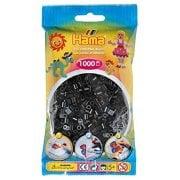 Midi Hama Beads - 1000 Beads in Bag, Black Aid for fine motor