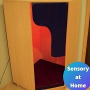 Wooden Padded Sensory Den with Mood Lighting