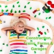 Construction, Trains, Farms, Cars & Garages