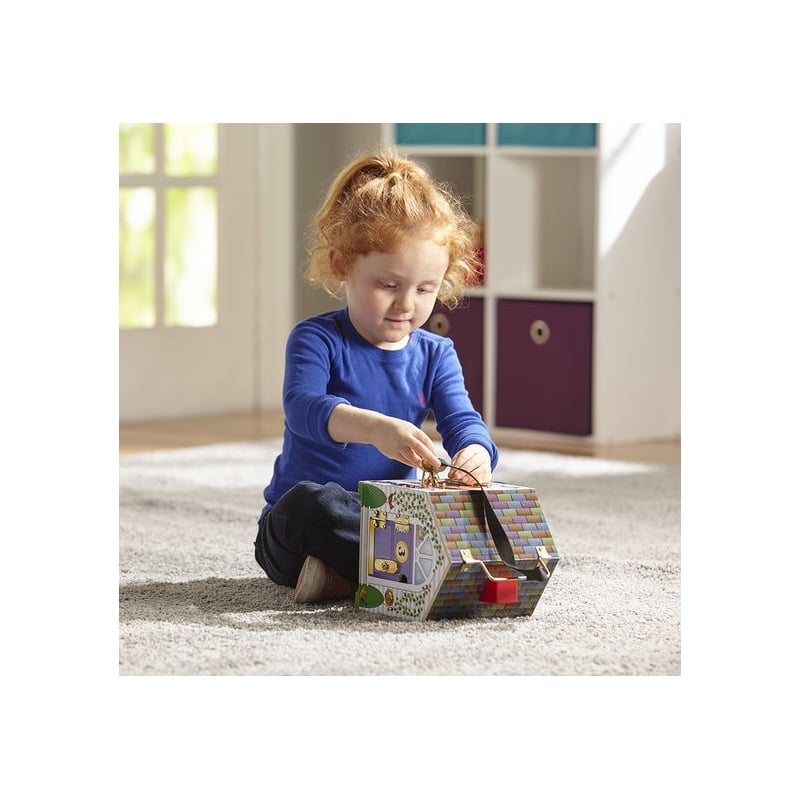 Melissa And Doug Wooden Doorbell House Locks Latches And Bells