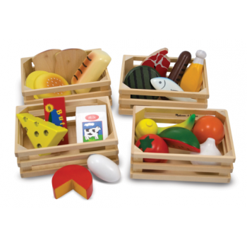 Melissa and Doug Food Groups - Wooden Healthy Food Play Set