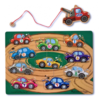 Melissa and Doug Magnetic Wooden Game - Tow Truck