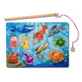 Melissa and Doug Magnetic Wooden Game - Fishing