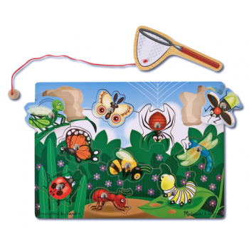 Melissa and Doug Magnetic Wooden Game - Bug-Catching