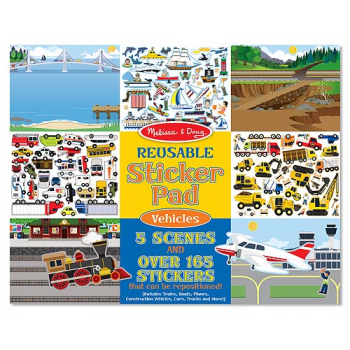 Melissa and Doug Reusable Sticker Pad - Vehicles