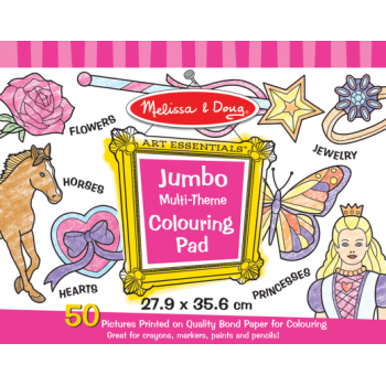 Melissa and Doug Jumbo Colouring Pad - Pink*
