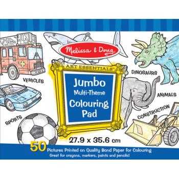 Melissa and Doug Jumbo Colouring Pad - Blue*