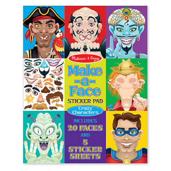 Melissa and Doug Make-a-Face Crazy Characters Sticker Pad