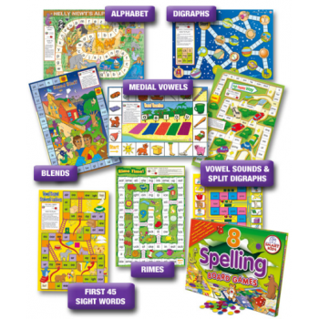 Smart Kids 8 Spelling Board Games