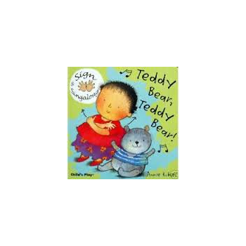 Childs Play Teddy Bear, Teddy Bear Signing (Board Book) - Rhyming and sing along book