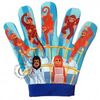 Puppet Company Five Little Monkeys Song Mitt Puppet