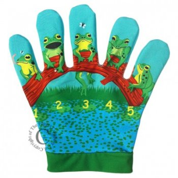 Puppet Company Five Little Speckled Frogs Song Mitt Puppet