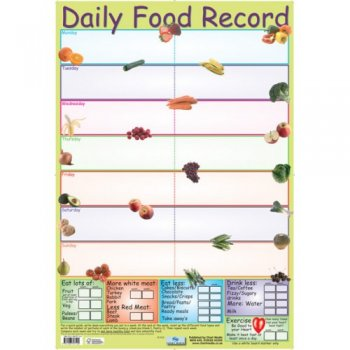 Daily Food Record Poster