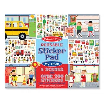 Melissa and Doug Reusable Sticker Pad My Town