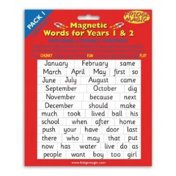 Magnetic Words Years 1-2 Pack 1