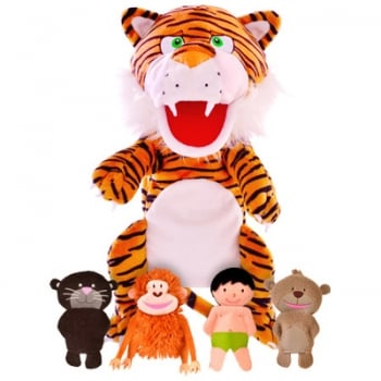 Tellatale Jungle Book Hand Puppet Set with Finger Puppets