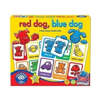 Orchard Toys Red Dog, Blue Dog - A first colour match lotto