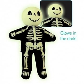 Fiesta Crafts Tellatale Wooden Head Finger Puppet Skeleton glow in the dark