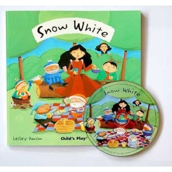 Childs Play Snow White (Book & CD) - Rhyming and sing along book
