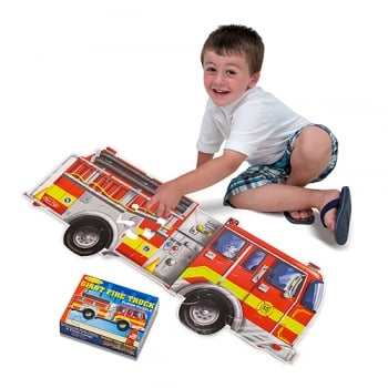Melissa and Doug Giant Fire Engine Floor puzzle (24 pc)