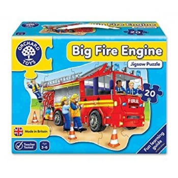 Orchard Toys Big Fire Engine - 20 Piece Shaped Floor Jigsaw Puzzle