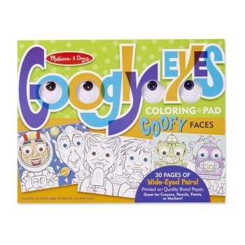 Googly Eyes Colouring Pad - Goofy Faces