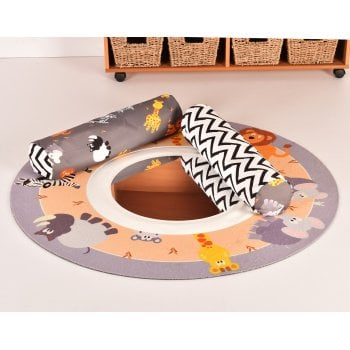 Safari Theme Baby Mat with Bolsters and Mirror**