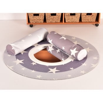 Stars Baby Mat with Mirror and Bolsters**