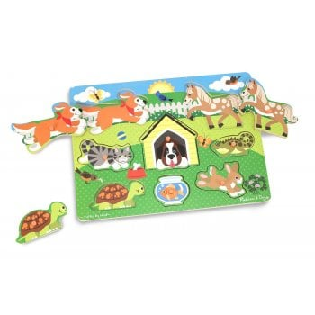 Melissa and Doug Wooden Peg Puzzle - Pets
