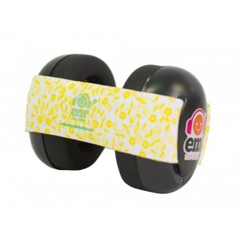 Baby Ear Defender - Yellow Floral