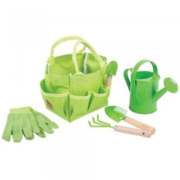Gardening Small Tote Bag with Tools Childrens
