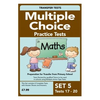 Multiple Choice Practice Tests in Maths Pack 5