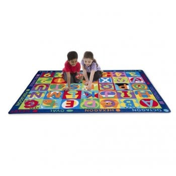 Jumbo ABC-123 Rug with double sided game cards