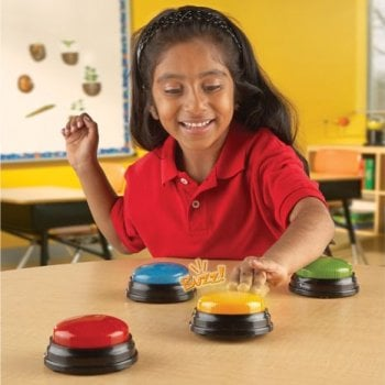 Learning Resources Lights & Sounds Buzzers, Set of 4