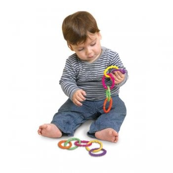 Edushape Textured Linking Rings - Sensory Baby Toy