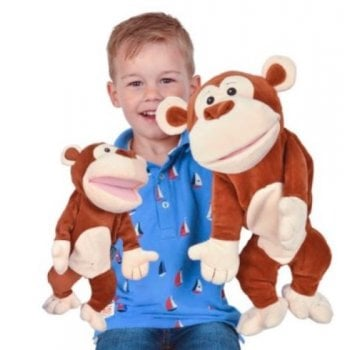 Large Tellatale Monkey Hand Puppet