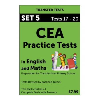 CEA Practice Tests in English and Maths Pack 5