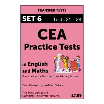 CEA Practice Tests in English and Maths Pack 6