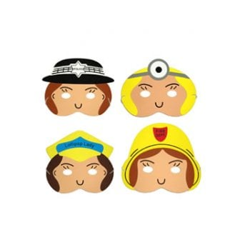 People who help us play masks girls (4pcs)